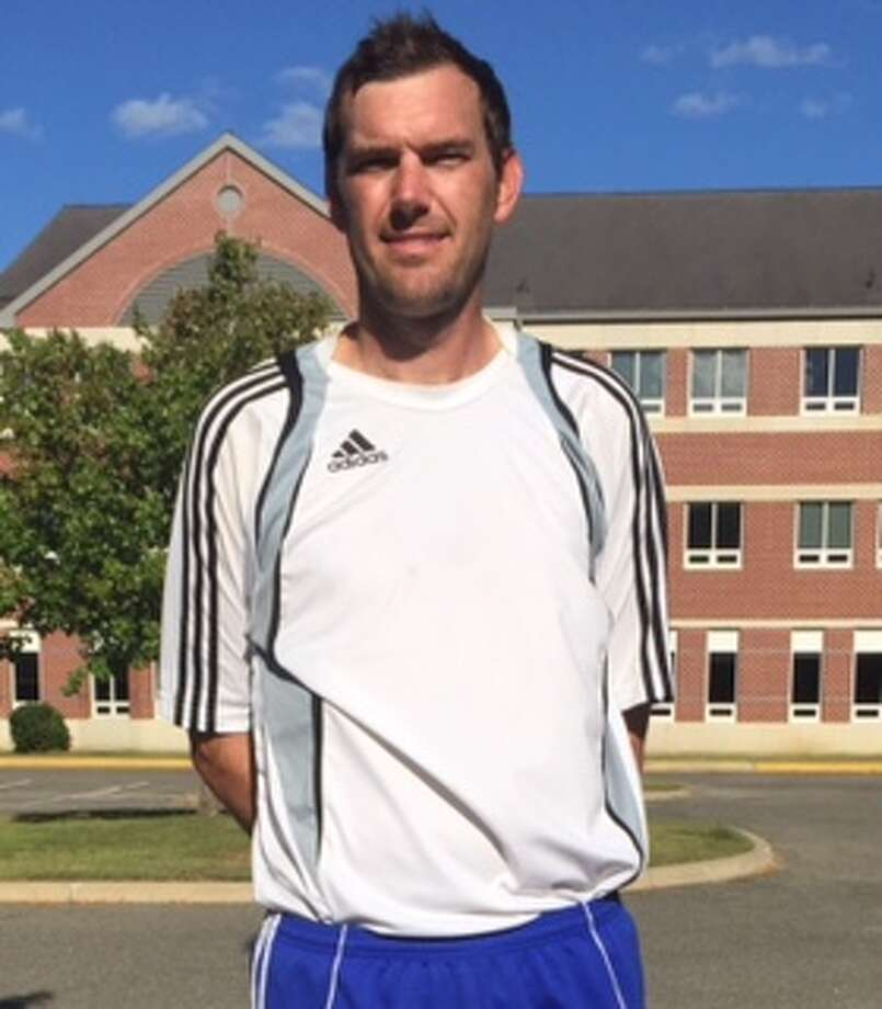 New Milford High School's new head girls soccer coach, Jason Stock, following practice on Aug. 28, 2015. Photo: Rich Gregory / Rich Gregory / News-Times