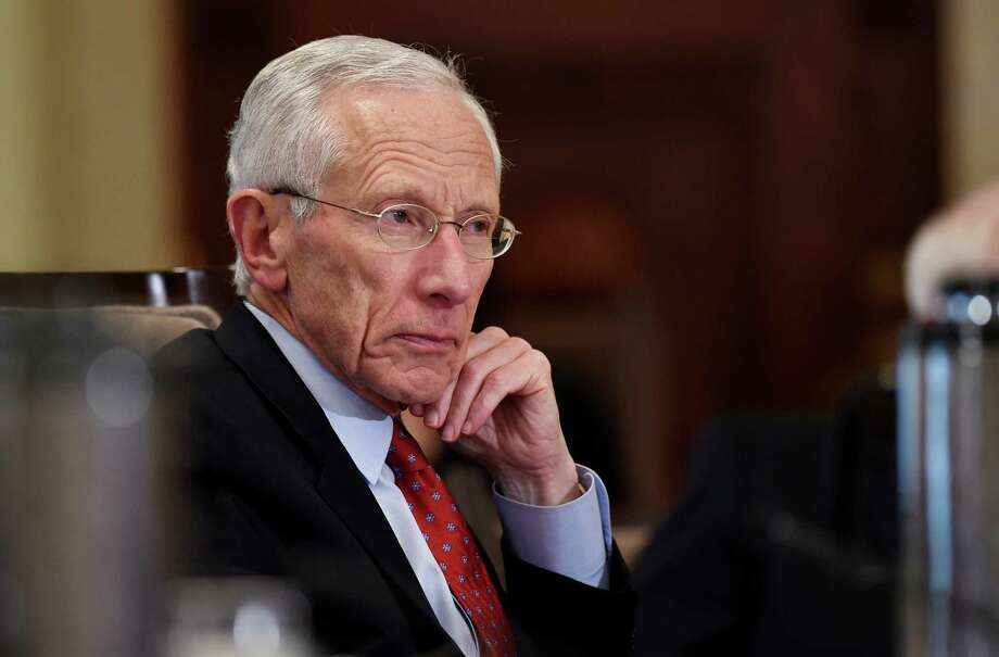 FILE - In this Wednesday, Oct. 22, 2014, file photo, Federal Reserve Vice Chairman Stanley Fischer listens during a meeting of the Board of Governors of the Federal Reserve System at the Federal Reserve in Washington. Fischer said Friday, Aug. 28, 2015, that incoming economic data and market developments will likely determine whether the Fed boosts interest rates in September. (AP Photo/Susan Walsh, File) Photo: Susan Walsh, STF / AP