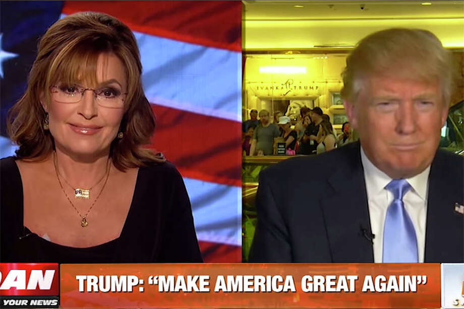 """Sarah Palin and Donald Trump: """"Don't take the bait, Mr. Trump. It's not about you. It's about us. And we've got your back. 