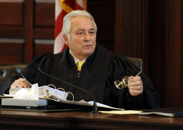 Judge George Pulver presides over the ballot fraud case at the Rensselear County Courthouse in Troy, N.Y. Jan. 24, 2012. (Skip Dickstein / Times Union archive)