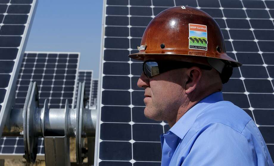 SunPower's West Coast operations chief Lance Long visits the California Valley Solar Ranch in San Luis Obispo County. Photo: Michael Macor, The Chronicle