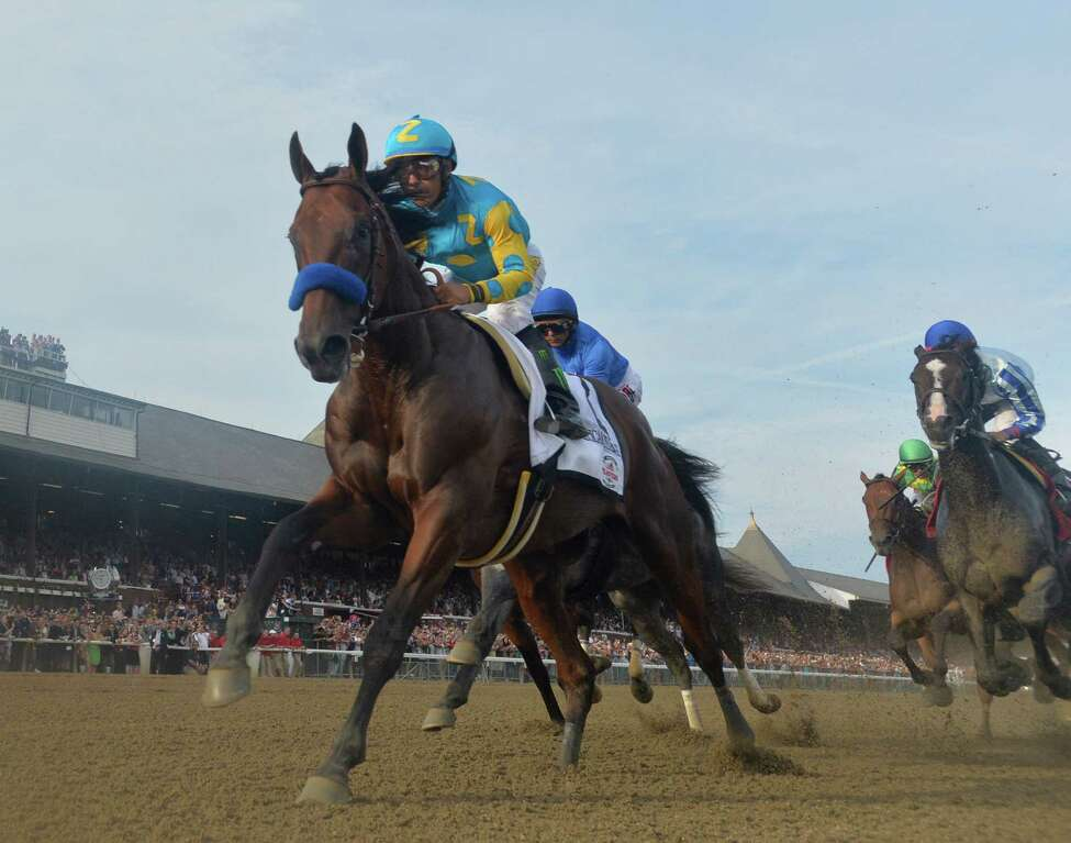 1. American Pharoah, Bob Baffert, 2015. Finished 2nd in Travers. He didn't win at the Spa, but he won the Triple Crown, and if that doesn't make you famous, what does?