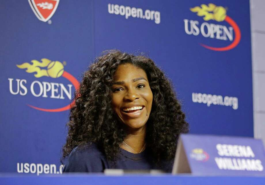 U.S. Open Tennis defending women's champion Serena Williams speaks during a press conference at the USTA Billie Jean King National Tennis Center in New York, Thursday, Aug. 27, 2015. Williams is in position to win the Grand Slam this year if she wins the U.S. Open tennis tournament. (AP Photo/Kathy Willens) ORG XMIT: NYKW101 Photo: Kathy Willens / AP