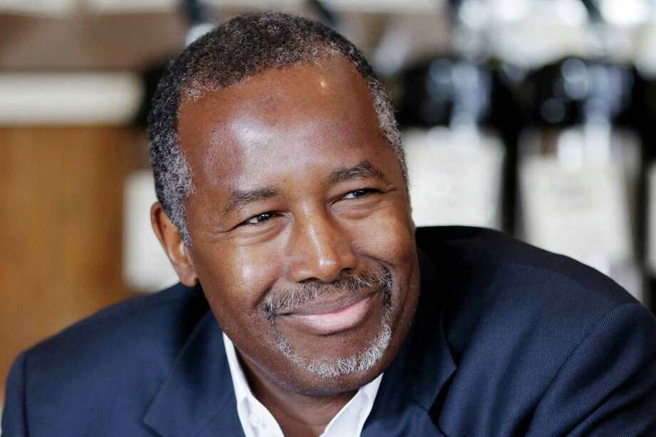 Republican presidential candidate Ben Carson is interviewed in Little Rock, Ark., Thursday, Aug. 27, 2015. (AP Photo/Danny Johnston) Photo: Danny Johnston, STF / AP