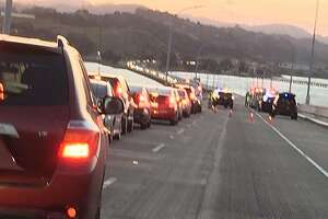 Accident slows traffic on 580 - Photo