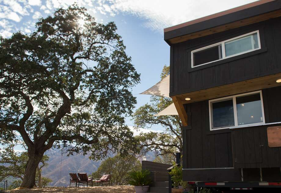 Joshua and Shelley Engberg's tiny home sits in the East Bay hills and boasts spectacular views. Photo: Nathaniel Y. Downes, The Chronicle