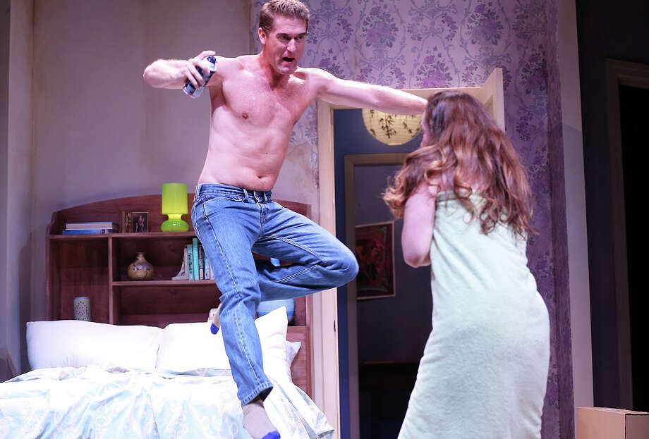 Scott Drummond and Claire Karpen in ìBedroom Farceî by Alan Ayckbourn at the Westport Country Playhouse through September 13. Photo: Contributed / Contributed Photo / Westport News