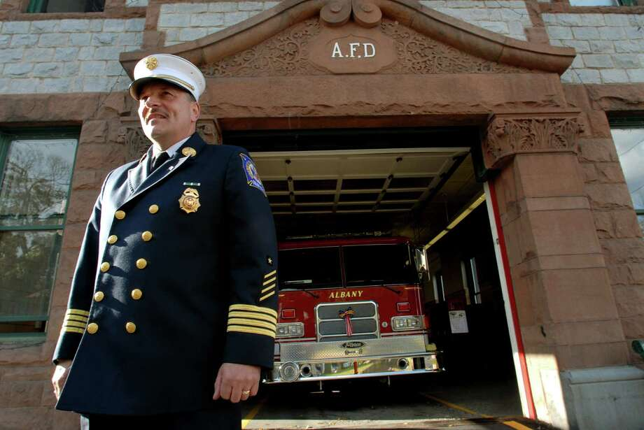 Newly named Fire Chief Robert Forezzi Sr. poses at the Midtown Station, the home of Engine 1, on Friday, Sept. 29, 2006, in Albany, N.Y. Forezzi worked at this station more than 22 years as a firefighter and officer. He died Saturday, Aug. 29 at the age of 61. (Cindy Schultz / Times Union archive) Photo: CINDY SCHULTZ / ALBANY TIMES UNION