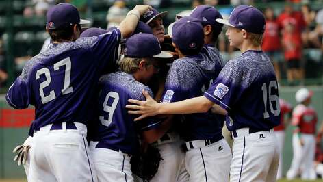 Pearland, Texas players celebrate after winning the Third Place baseball game against Mexico at the Little League World Series tournament, Sunday, Aug. 30, 2015, in South Williamsport, Pa. Pearland won 6-4. (AP Photo/Matt Slocum)