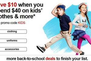 Target: Take $10 off $40 kids' apparel and accessories purchase - Photo