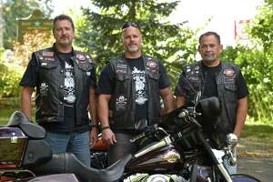 Bikers ride to help abused kids - Photo