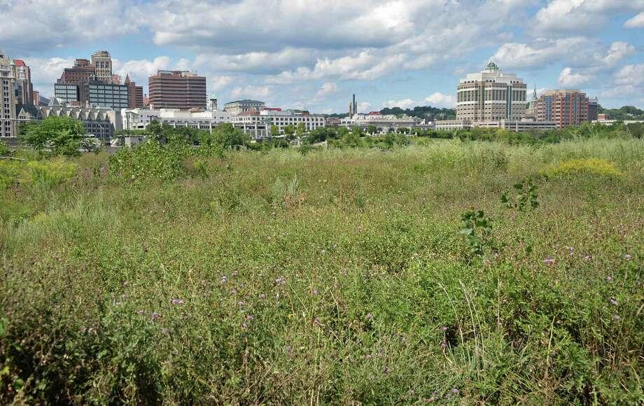 The Albany skyline as viewed from De Laet's Landing Friday Aug. 21, 2015, in Rensselaer, N.Y.  (John Carl D'Annibale / Times Union) Photo: John Carl D'Annibale / 00033082A