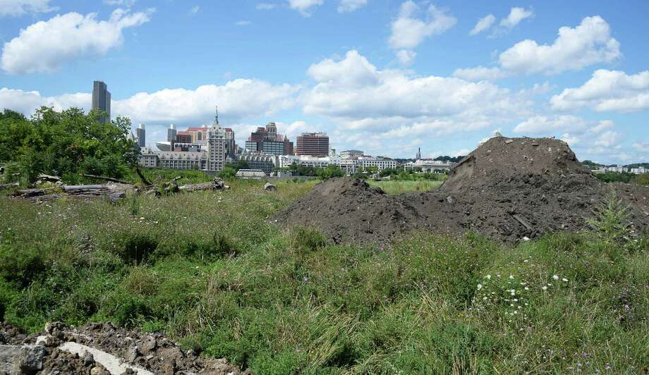 The Albany skyline as viewed from De Laet's Landing Friday Aug. 21, 2015, in Rensselaer, N.Y.  (John Carl D'Annibale / Times Union) Photo: John Carl D'Annibale / 00033082A