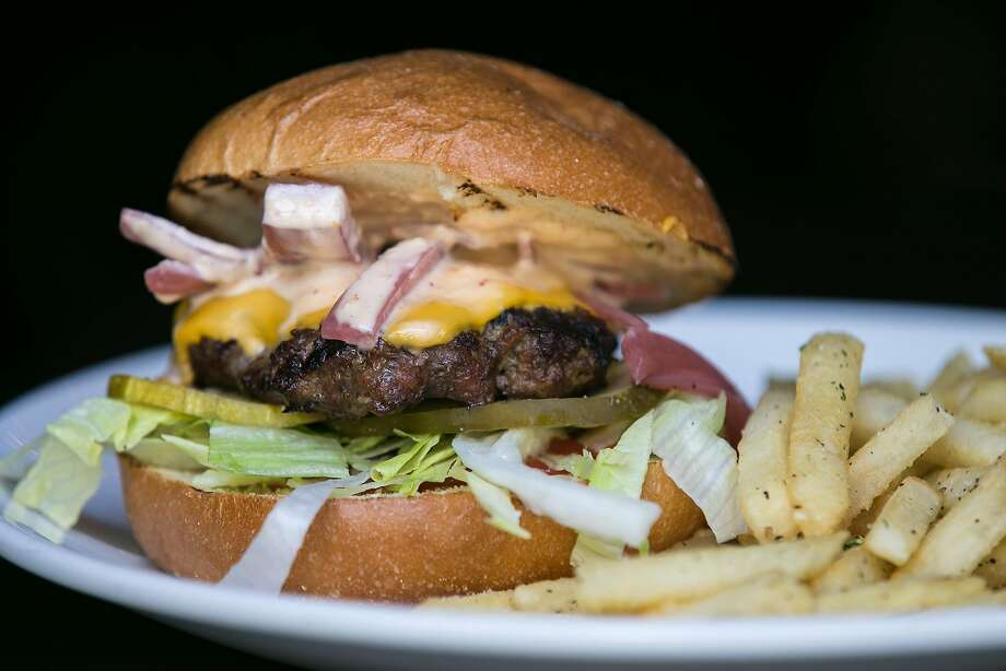 The burger and fires from The Square in the neighborhood of North Beach in San Francisco. Photo: Jen Fedrizzi, Special To The Chronicle