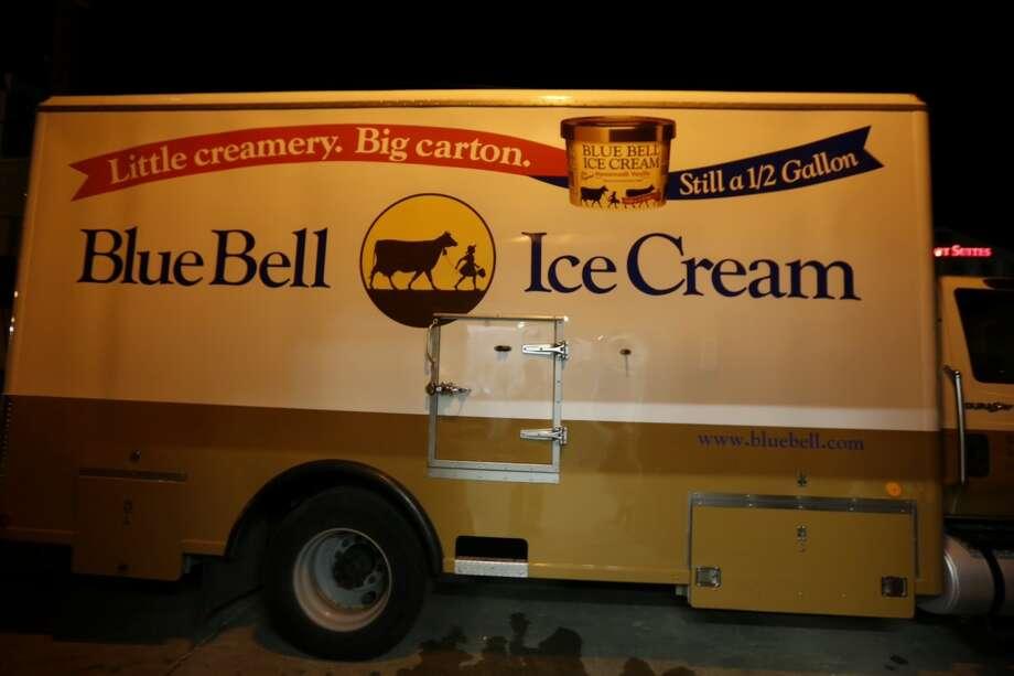 A Blue Bell truck brings the precious cargo that Texans have been longing for. Monday, August 31, 2015. Photo: Houston Chronicle