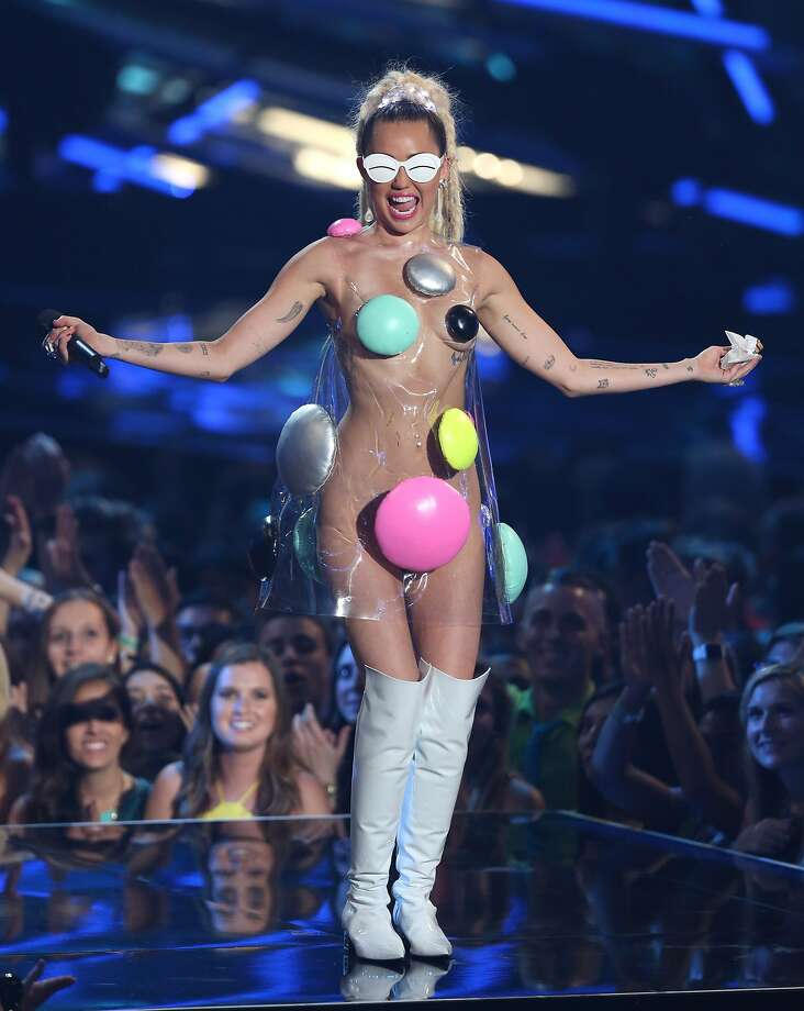 Host Miley Cyrus appears at the MTV Video Music Awards at the Microsoft Theater on Sunday, Aug. 30, 2015, in Los Angeles. Photo: Matt Sayles, Associated Press