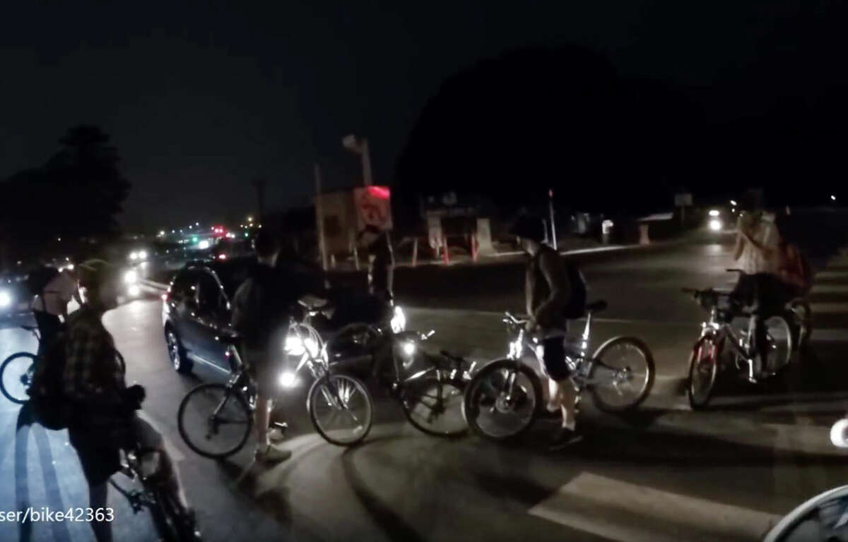 A YouTube video showing an altercation between Critical Mass cyclists and a driver in San Francisco's Marina District on Friday August 28, 2015.