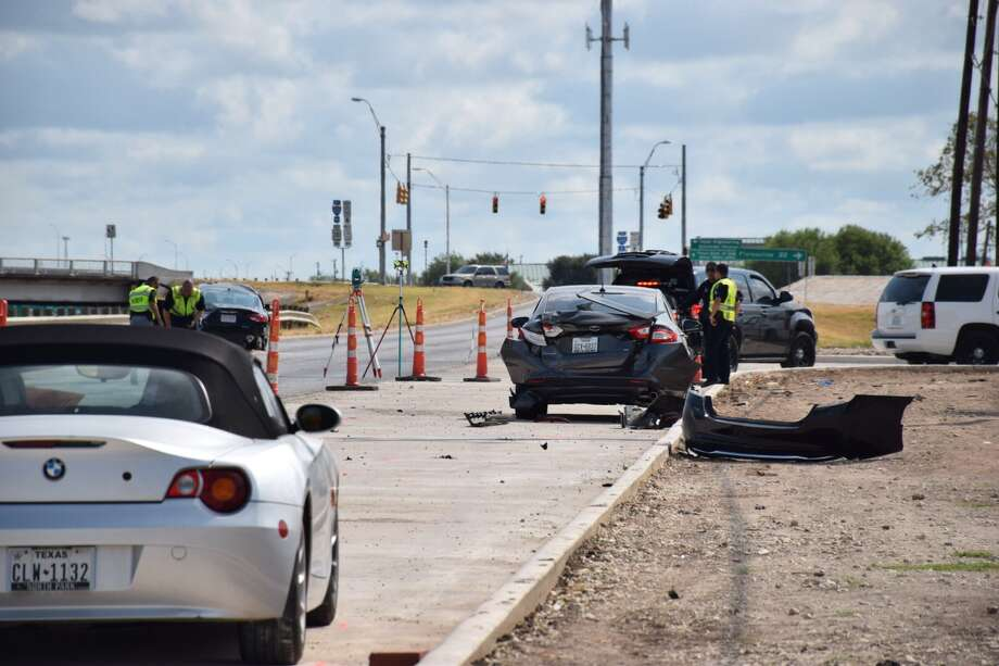 Bexar County Sheriff's officials say a man led deputies on a high-speed chase on Loop 410, crashed and fled on foot on August 31, 2015. Deputies detained the man and he was hospitalized. Photo: Mark D. Wilson/San Antonio Express-News