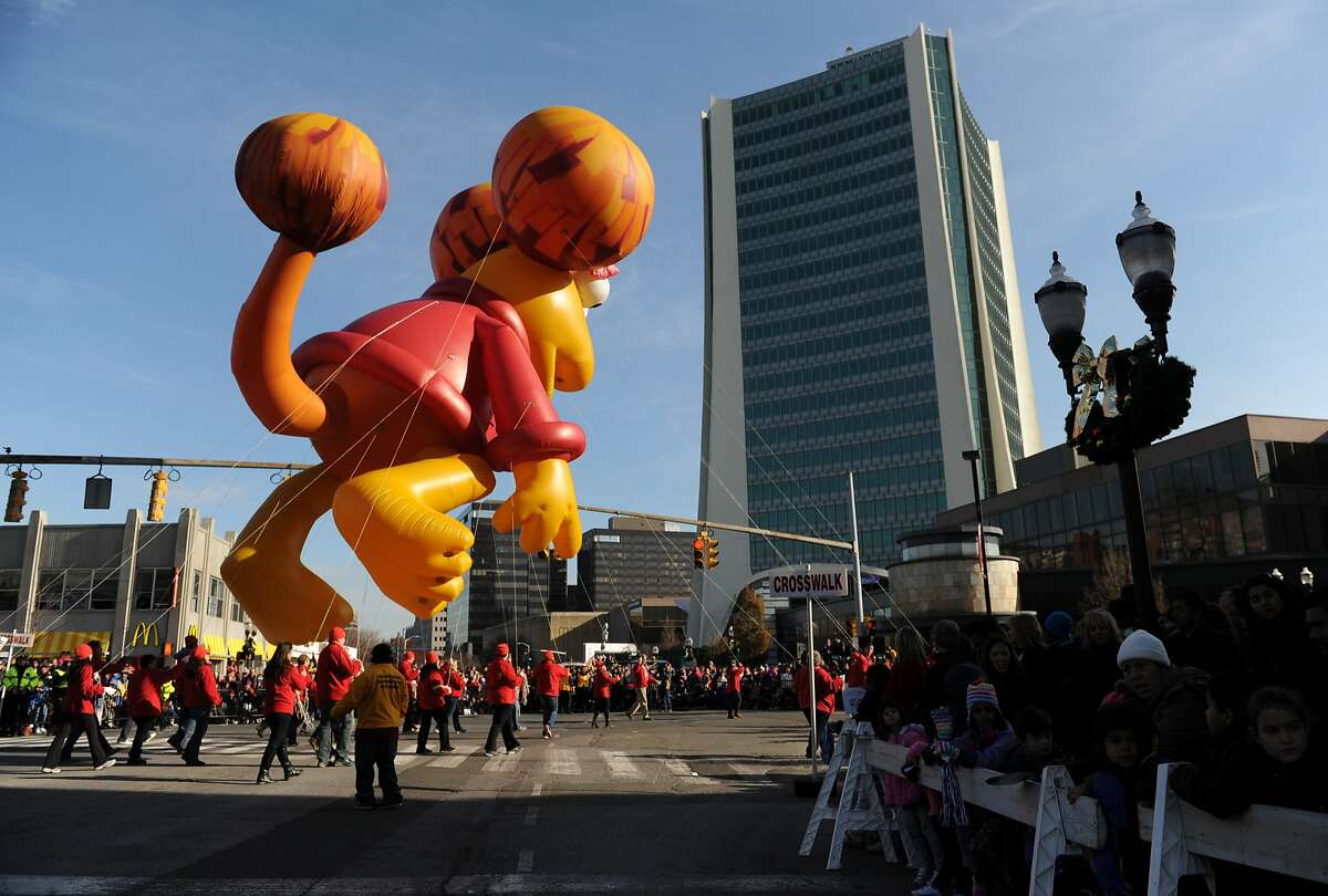 Photos from the UBS Parade Spectacular Annual Holiday Balloon Parade in Stamford, Conn. Sunday, Nov. 23, 2014. The parade, now in its 21st year, featured many marching bands, floats, dancers and 16 giant helium ballons.