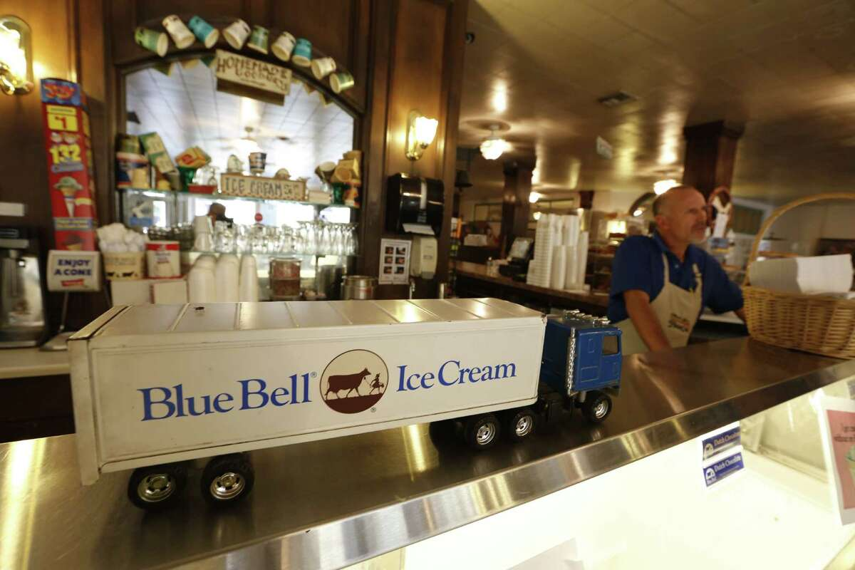 Must Be Heaven owner Charlie Pyle, who has not sold ice cream in his shop since the shutdown of Blue Bell, was waiting for his delivery he hoped would show up Monday, Aug. 31, 2015, in Brenham.