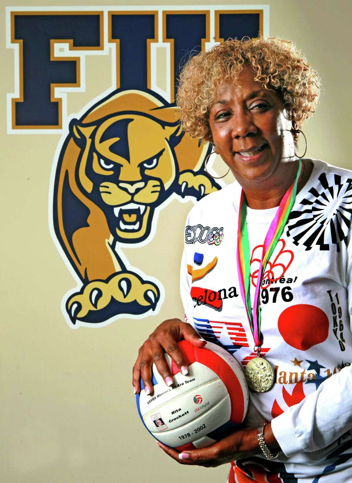 Rita Buck-Crockett, pictured at the FIU campus in Miami Dade County in June 2012, is one of the top nine area athletes San Antonio has produced in the Title IX era. Buck was named the first sand volleyball coach at FIU.