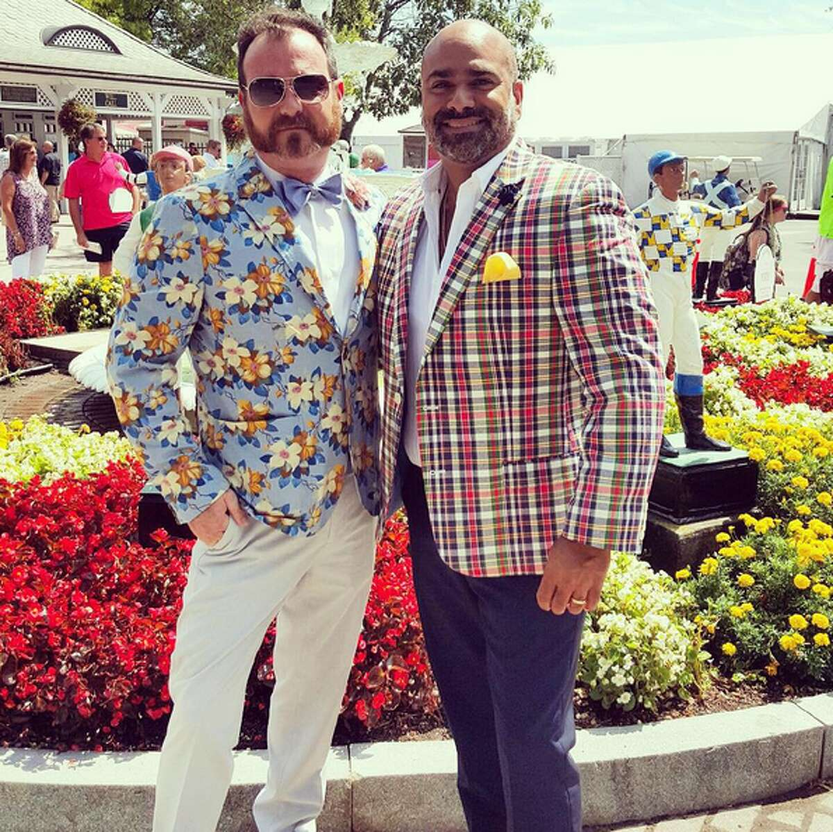 James G. Murphy (left) and Erick Jerome (right) of Miami Beach brought style to the Spa. Photo credit: @mamemurphy