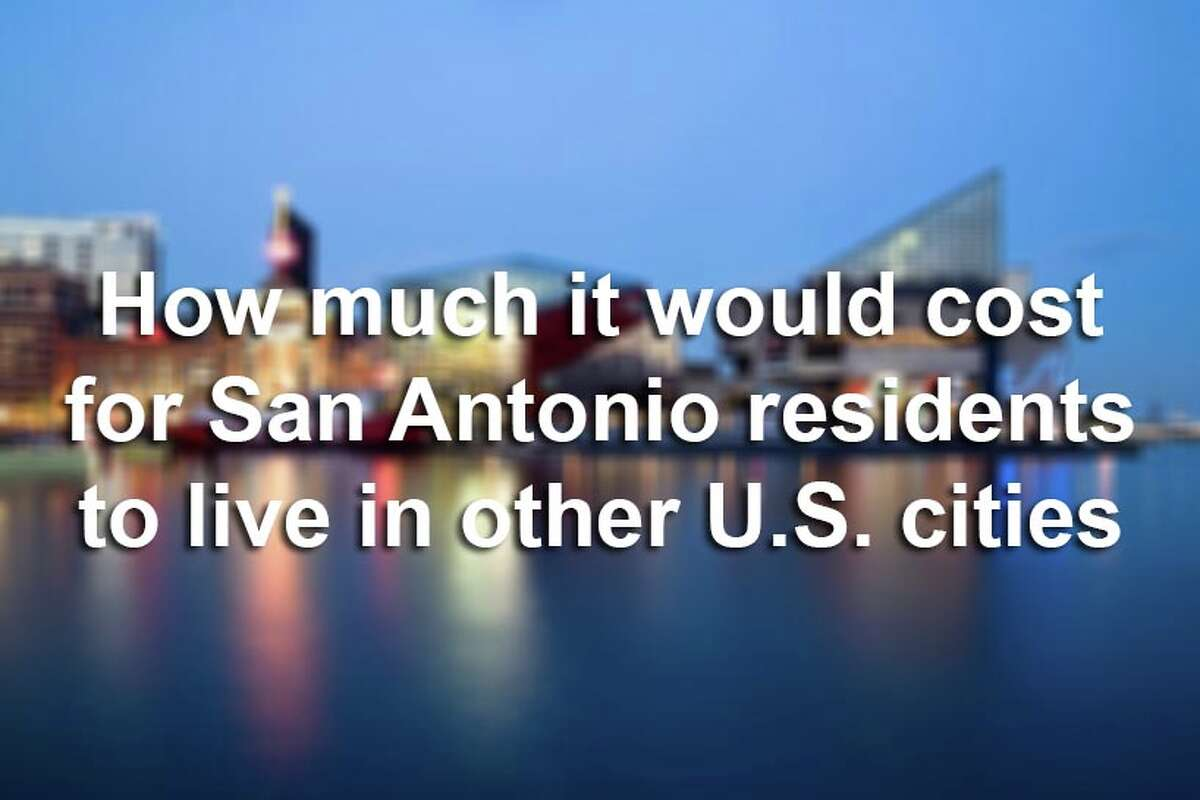 Scroll through the slideshow to see how much more money San Antonio residents would need to live in other major U.S. cities. Cities are ranked by size, according to the U.S. Census Bureau. Source:Economic Policy Institute