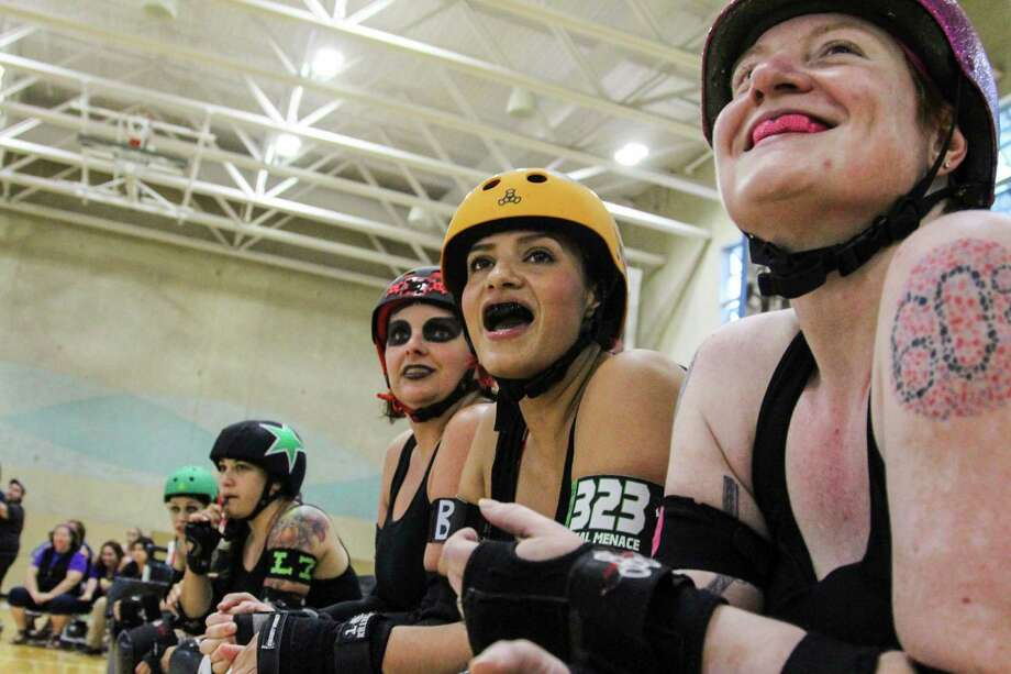 The Alamo City Roller Girls played an intense double header Aug. 29 at Mission Concepcion Sports Park. Photo: Tyler White/SAEN