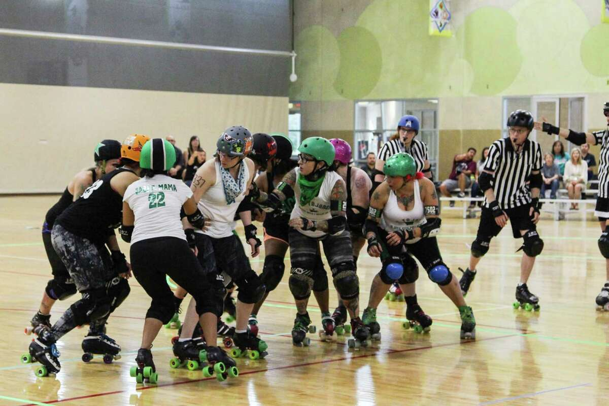 The Alamo City Roller Girls played an intense double header Aug. 29 at Mission Concepcion Sports Park.
