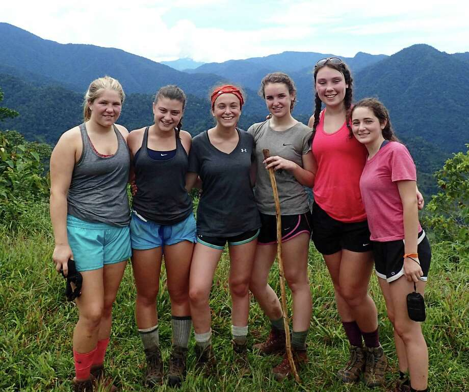 Fairfielders Lindsey Ferrante, far left, and Isabelle Burdo, next to her, recently took an eight-day trek sponsored by Outward Bound Costa Rica. Photo: Contributed / Contributed Photo / Westport News