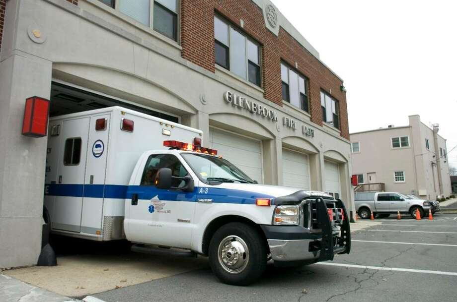 FILE — A SEMS ambulance leaves the Glenbrook Fire Department to respond to call in Stamford, Conn. on Thursday, March 11, 2010. Photo: Chris Preovolos / Stamford Advocate