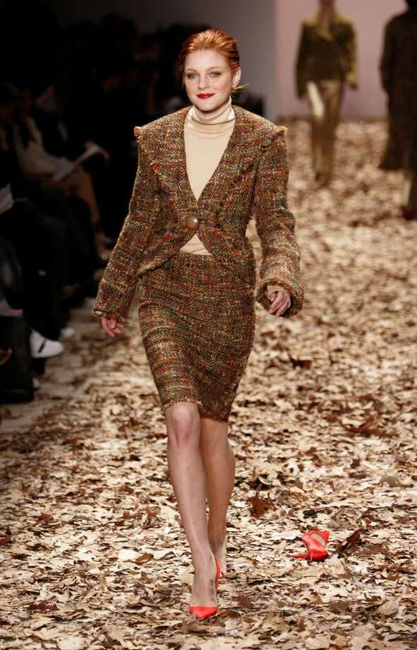 NEW YORK - FEBRUARY 6:  A model walks down the runway at the Esteban Cortazar Fall 2005 show during the Olympus Fashion Week at Bryant Park February 6, 2005 in New York City.  (Photo by Carlo Allegri/Getty Images) Photo: Carlo Allegri, Getty Images / 2005 Getty Images