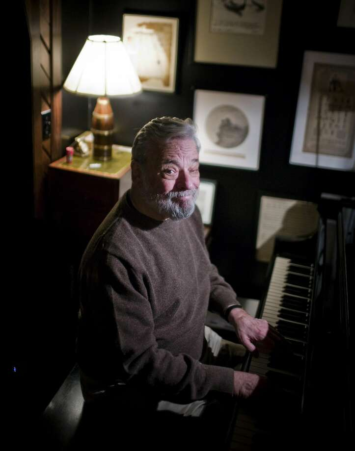 -- PHOTO MOVED IN ADVANCE AND NOT FOR USE - ONLINE OR IN PRINT - BEFORE AUG. 30, 2015. -- FILE — Steven Sondheim at his apartment in New York, Dec. 14, 2009. At its core, musical theater is about the smart, elegant and playful combination of words and music. (Piotr Redlinski/The New York Times.) Photo: Piotr Redlinski, New York Times