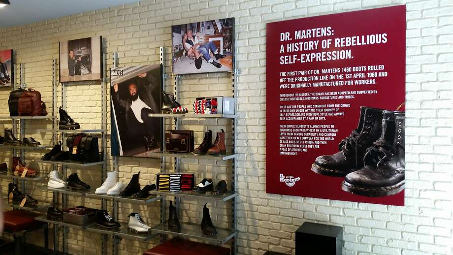 Dr. Martens opened its second San Francisco store in August on Market Street. The 1,350-square-foot space showcases a wide range of footwear and accessories for the entire family. Photo: Dr. Martens