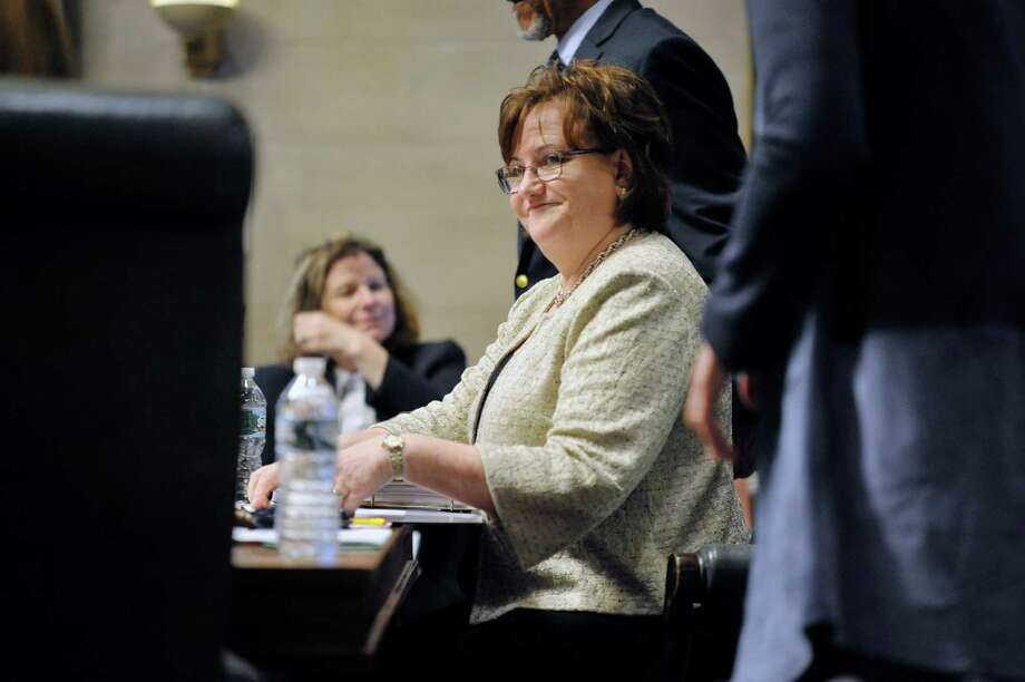 New York State Education Commissioner MaryEllen Elia takes part in her first Board of Regents meeting on Monday, July 20, 2015, in Albany, N.Y.   (Paul Buckowski / Times Union) Photo: PAUL BUCKOWSKI / 00032678A