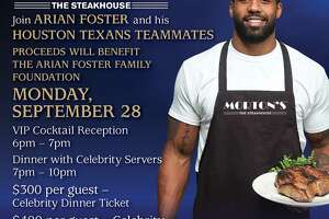 Texans' Arian Foster holding Sept. fundraiser for charity foundation at Morton's - Photo