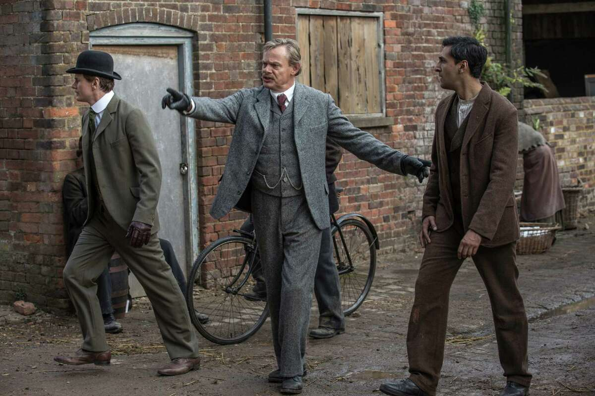 """Charles Edwards, from left, stars as Alfred Wood, Martin Clunes as Sir Arthur Conan Doyle and Arsher Ali as George Edalji in """"Arthur & George."""""""