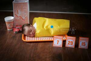 San Antonio photographer captures photo of newborn baby in Whataburger-themed shoot - Photo