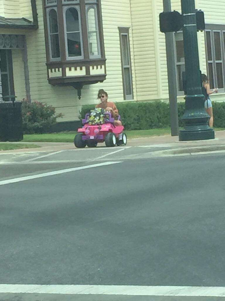 Since Charlene handed over the keys, she has rolled out around the University of Texas at Austin's West Campus and Texas State, leaving a trail of her laughter and Snapchats everywhere her little 12 volt battery can take her at 5 mph. Photo: Provided By Tara Monroe