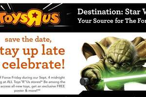 Toys R Us' Destination: Star Wars – all stores open at 12:01 a.m. Friday, Sept. 4 - Photo