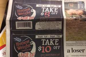 In today's Times Union: Three Honest Weight Food Co-op coupons - Photo
