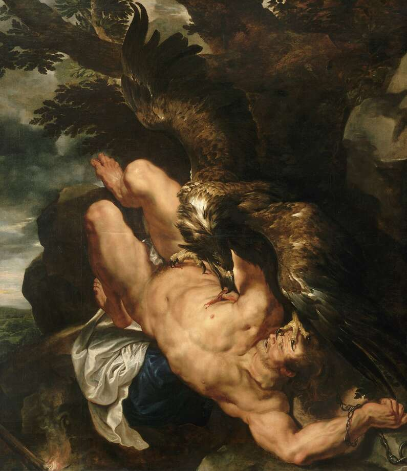 "Peter Paul Rubens' ""Prometheus Bound"" (1611-12) is the centerpiece of ""The Wrath of the Gods: Masterpieces by Rubens, Michelangelo, and Titian,"" opening Sept. 12 at the Philadelphia Museum of Art. Photo: Philadelphia Museum Of Art"
