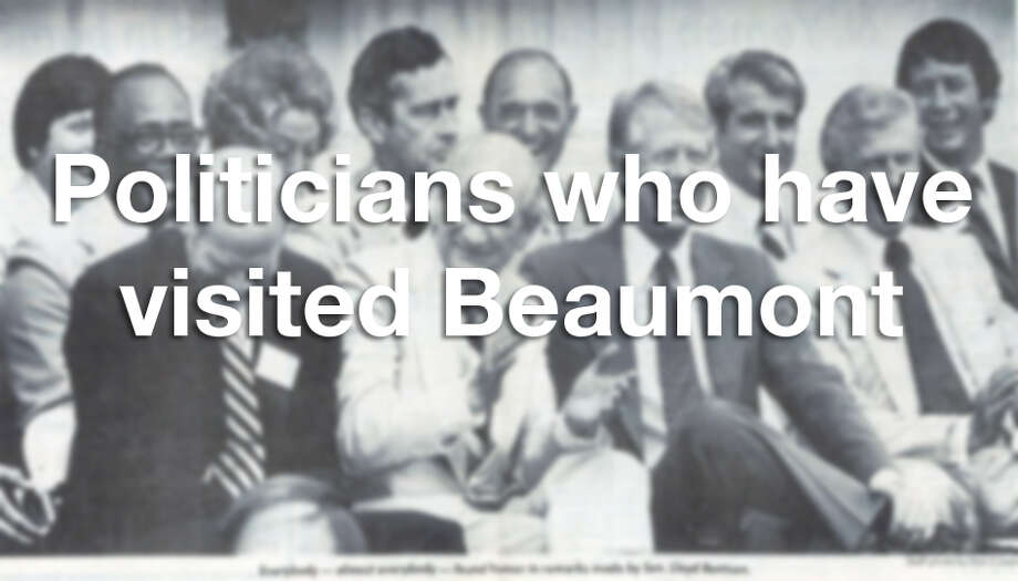 Scroll through the slideshow to see which famous politicians have stopped by Beaumont for a visit. Photo: Enterprise File Photo