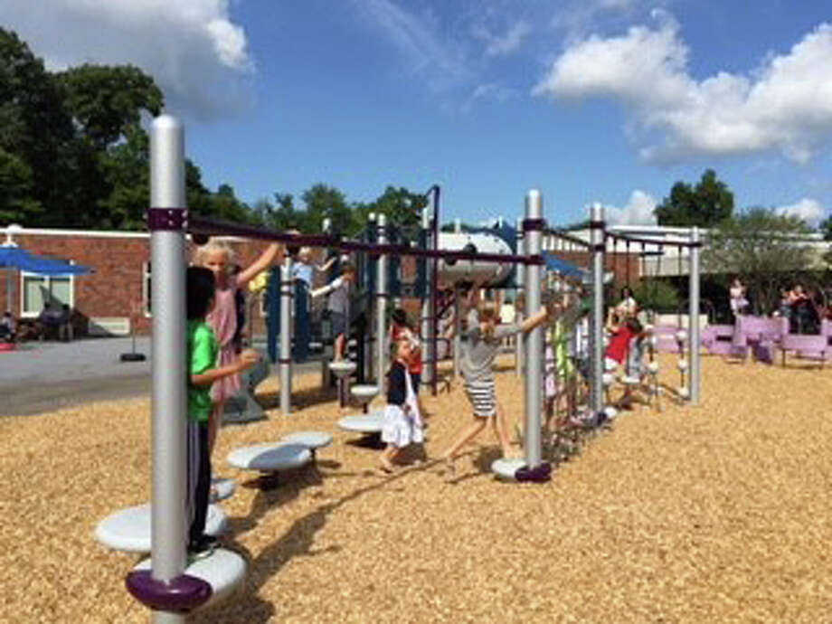 South Elementary School opened its new Kindergarten playground Aug. 27. Photo: Contributed Photo / New Canaan News