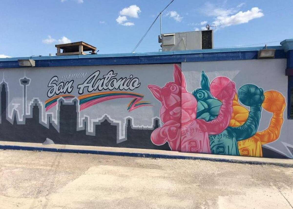 Spurs Coyote Mural by Christopher MontoyaBest Tickets, 926 AT&T Center Parkway