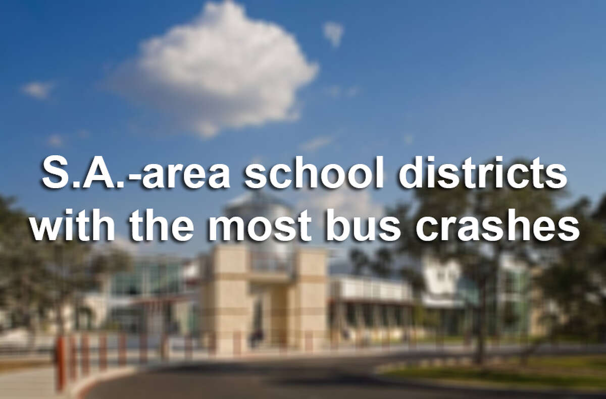 Click through the slideshow to view the San Antonio-area school districts with the most bus accident reports for the 2013-2014 school year.