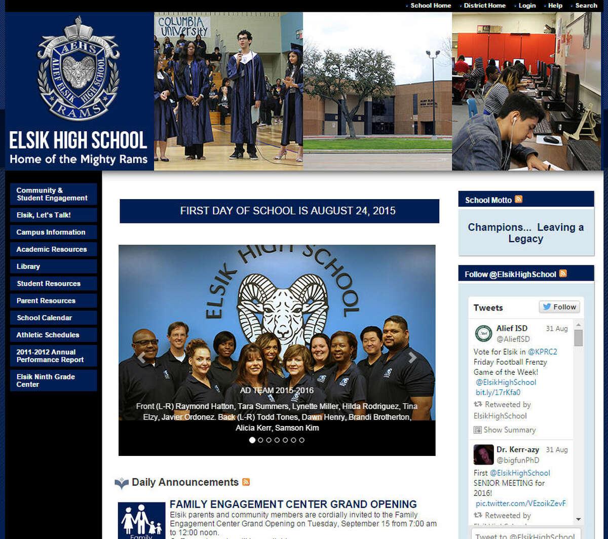 Elsik High School Alief ISDPrincipal: Hilda Rodriguez Years with district: 25 Salary: $139,609.40