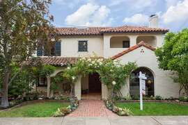 The Mediterranean in Oakland's Crocker Highlands region has four bedrooms and five bathrooms.