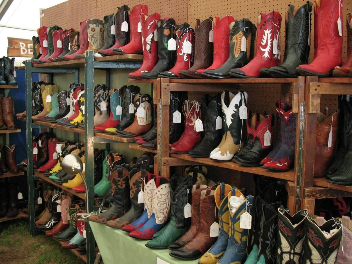 A shop called Dead People's Stuff sounds creepy, but has some of the best vintage cowboy boots available there.