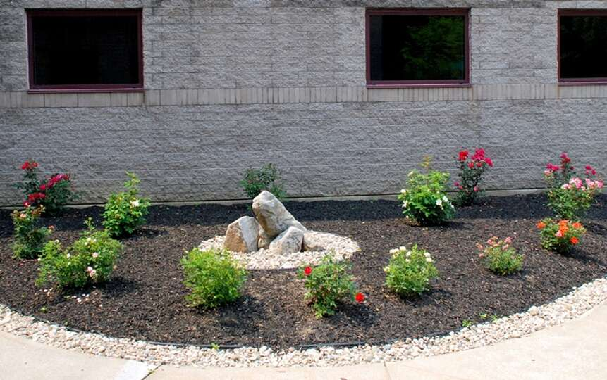 The new Elsie G.B. Shepherd Centennial Rose Garden at Wesley Health Care Center. The garden was dona